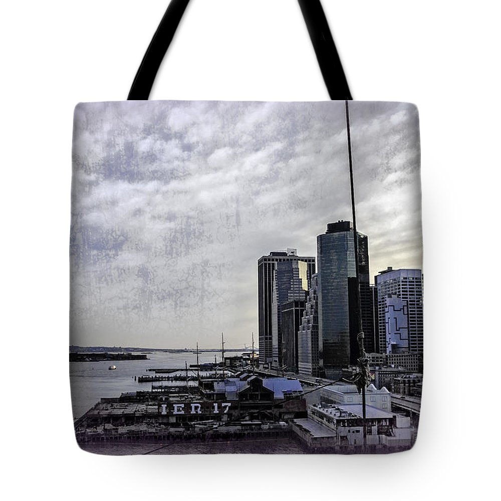 Pier 17 Tote Bag featuring the photograph Case Of The Missing P Aka As Pier 17 by Madeline Ellis