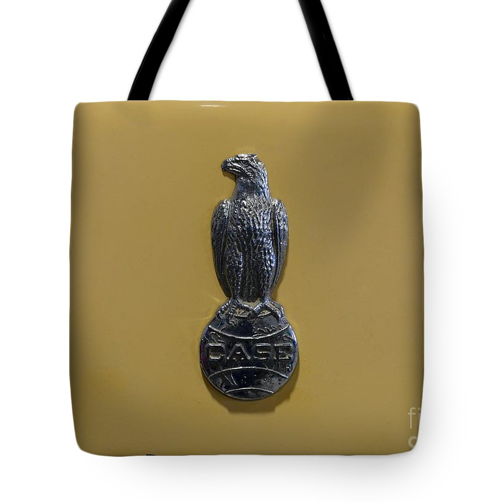 Paul Ward Tote Bag featuring the photograph Case Tractor - Meet Old Abe by Paul Ward