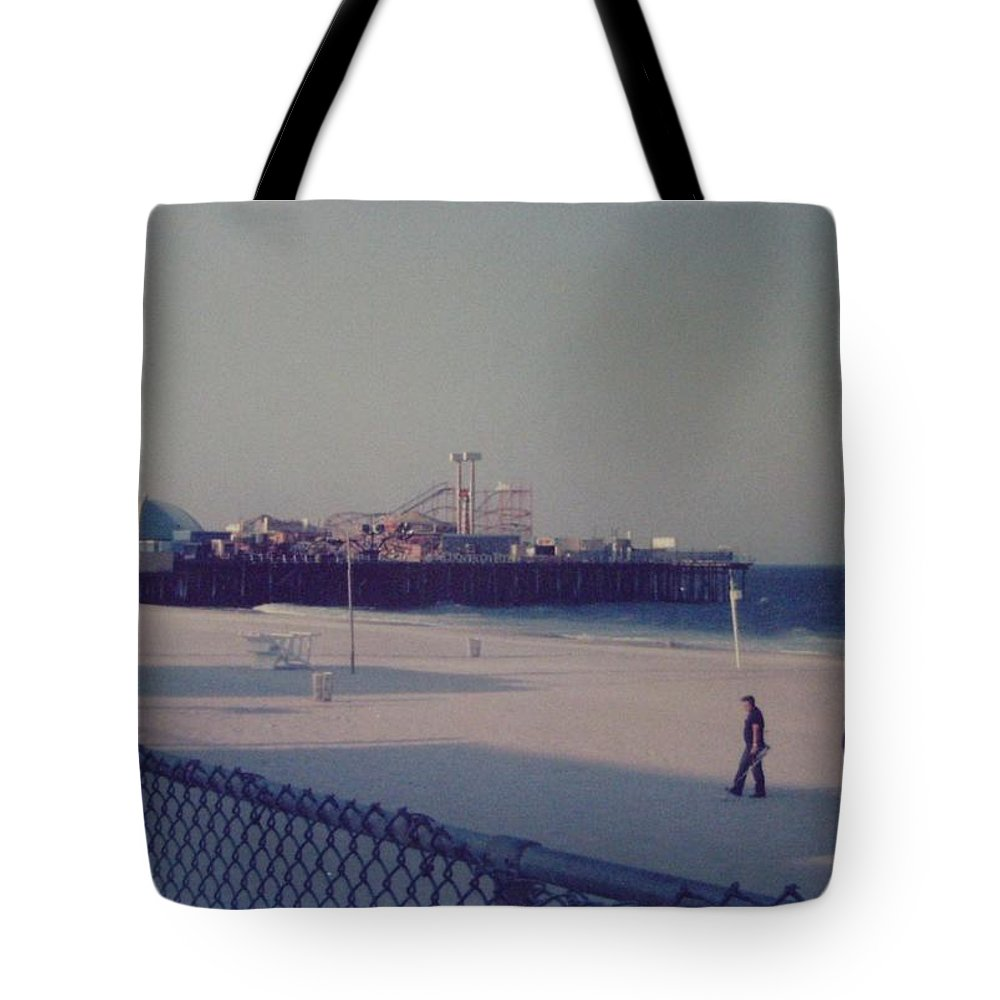 Beach Tote Bag featuring the photograph Casino Pier Seaside Heights Nj by Joann Renner