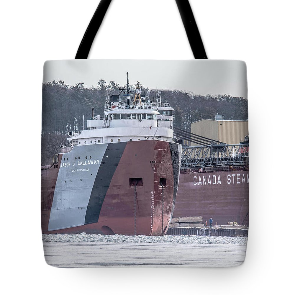 Freighter Tote Bag featuring the photograph Cason Calloway Freighter by Nikki Vig