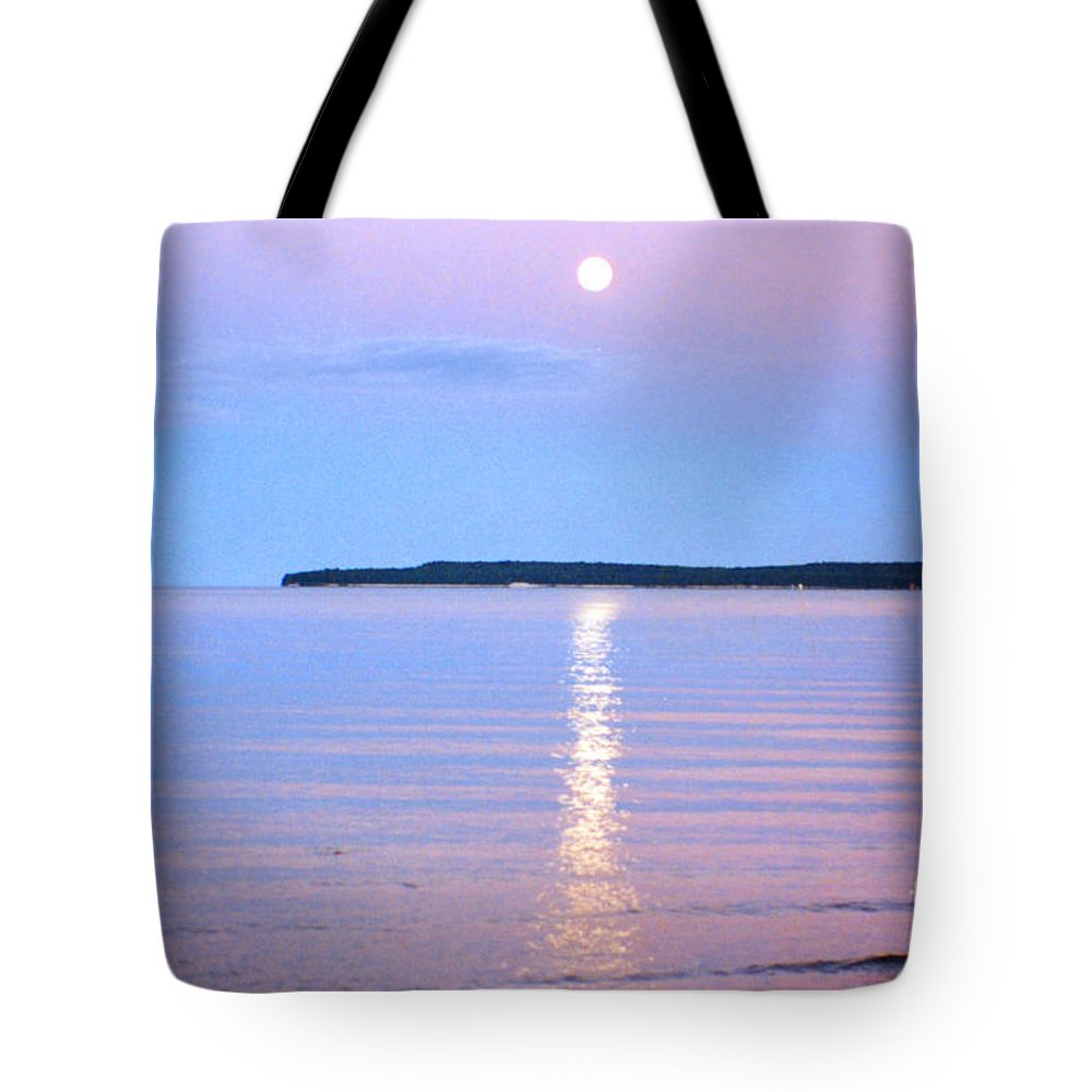 Moon Light Tote Bag featuring the photograph Casting Of Light In The Night by Lydia Holly