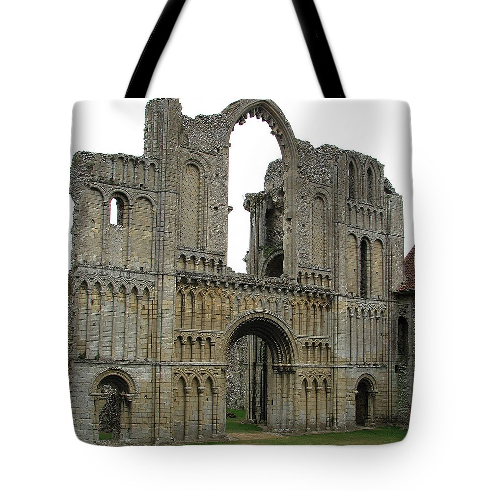 Abbey Tote Bag featuring the photograph Castle Acre Abbey by Stephanie Grant