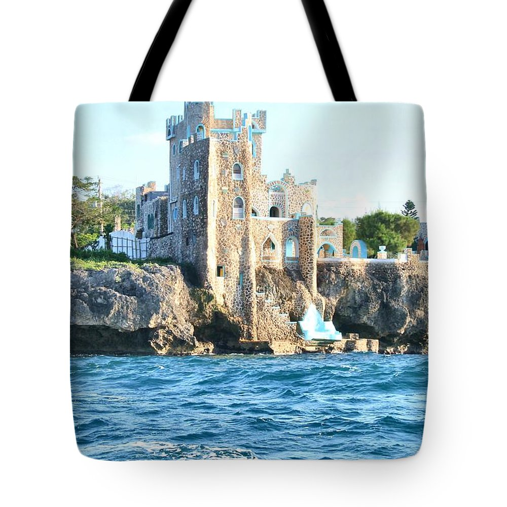 Castle Tote Bag featuring the photograph Castle At Sea by Debbie Levene