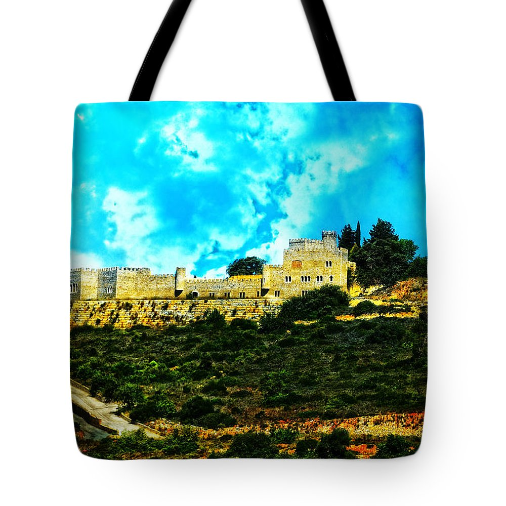 Castle In The Hot Summer Sun Tote Bag featuring the photograph Castle In The Hot Summer Sun by Mary Machare