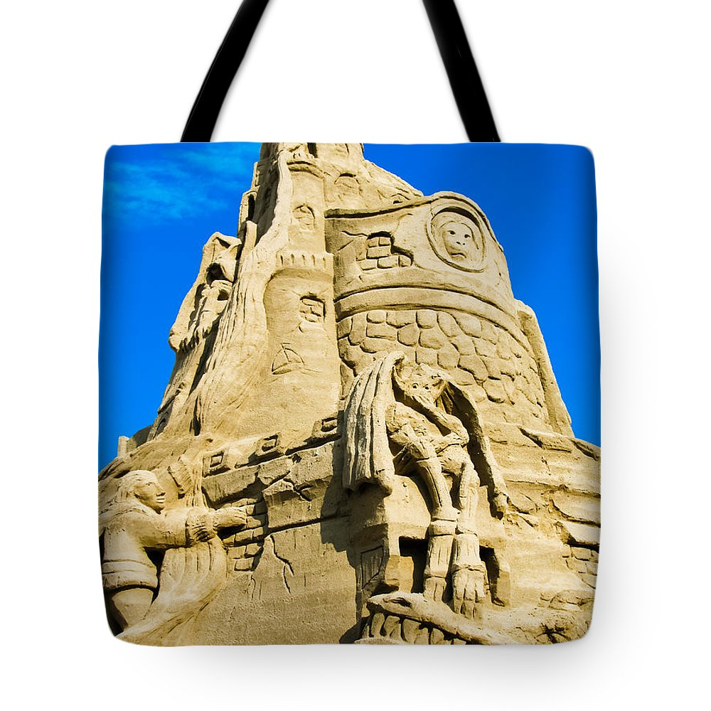 Sandcastle Tote Bag featuring the photograph Castle In The Sand by Colleen Kammerer