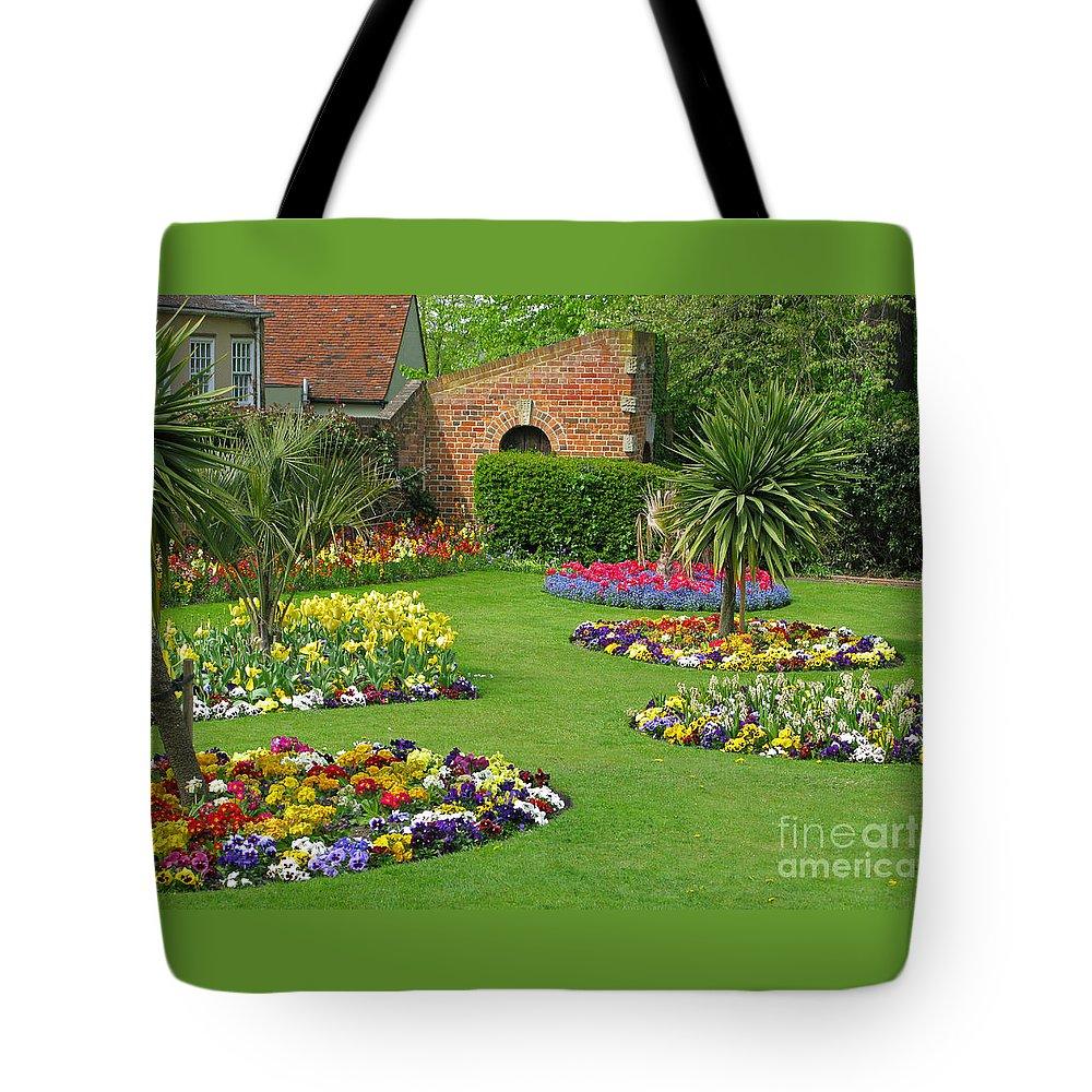 Garden Tote Bag featuring the photograph Castle Park Gardens by Ann Horn