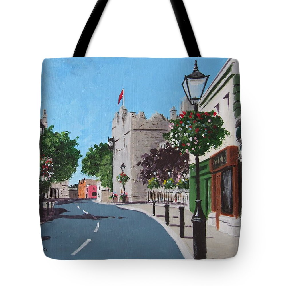 Dalkey Tote Bag featuring the painting Castle Street Dalkey by Tony Gunning
