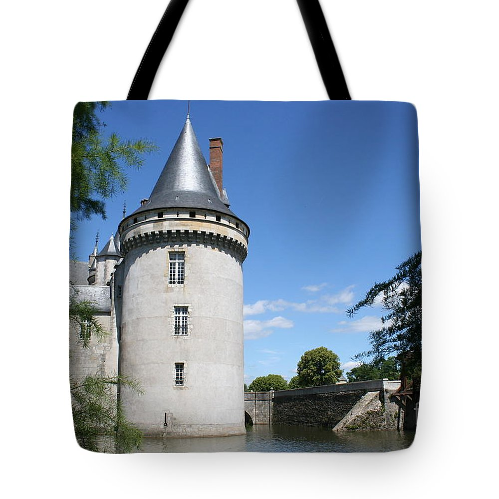 Castle Tote Bag featuring the photograph Castle Sully Sur Loire - France by Christiane Schulze Art And Photography