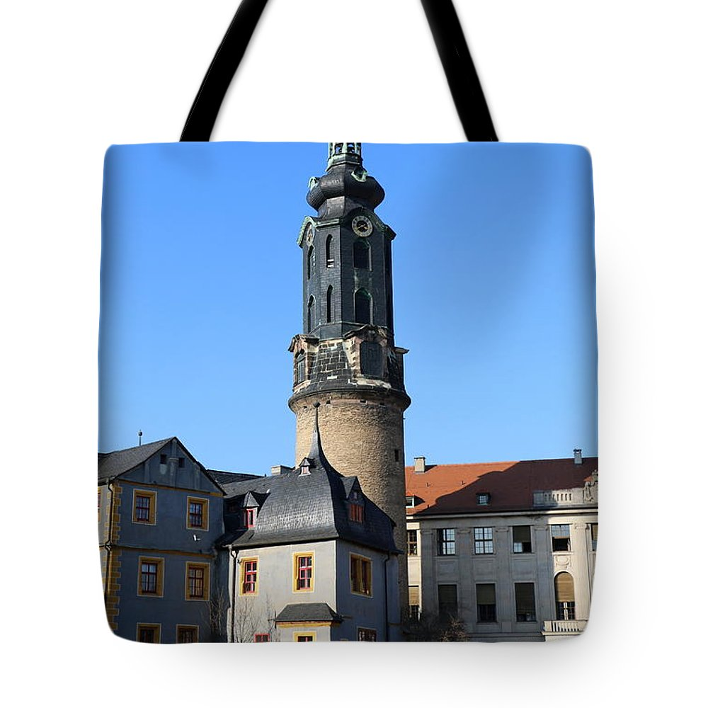 Castle Tote Bag featuring the photograph Castle Tower And Castle Weimar by Christiane Schulze Art And Photography
