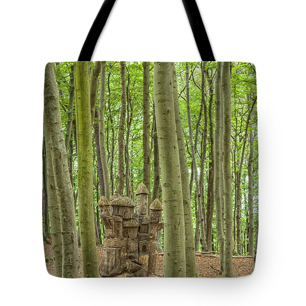Sculpture Tote Bag featuring the photograph Castle Tree Stump by Antony McAulay