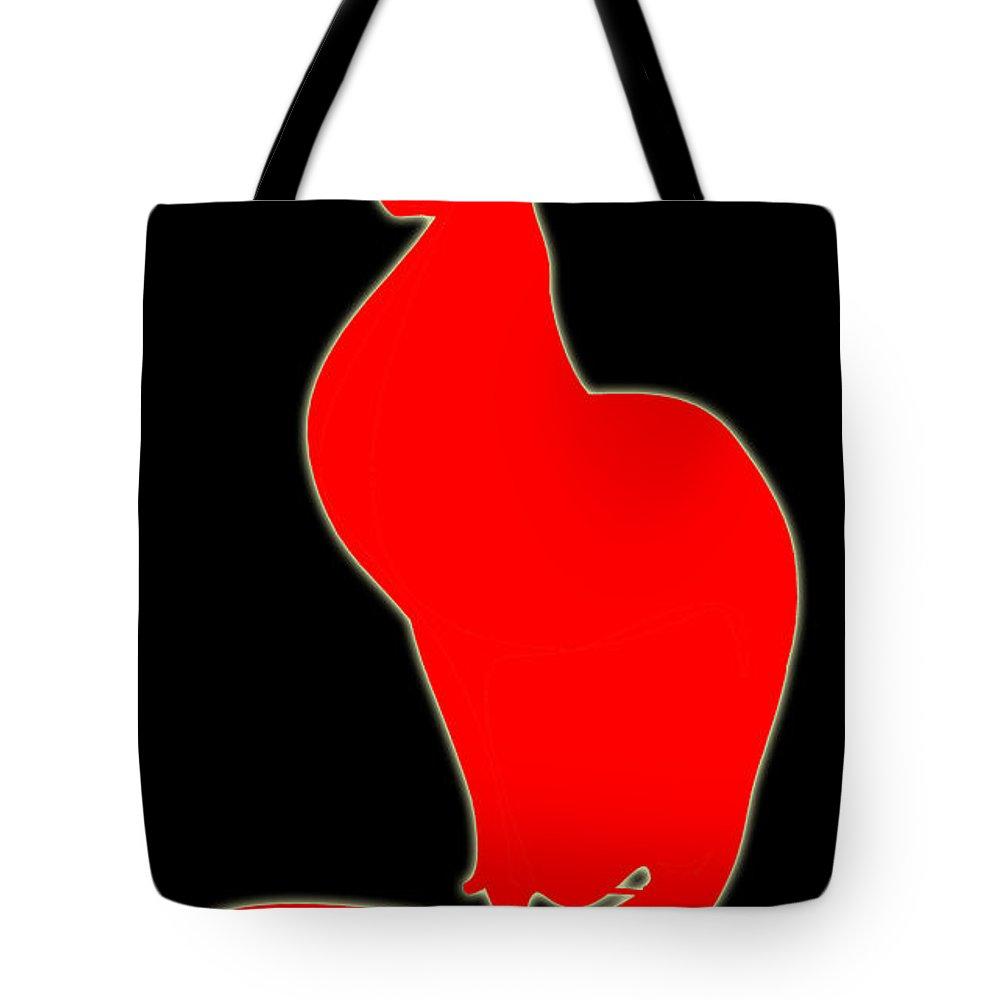 Cats Tote Bag featuring the digital art Cat 075-13 Marucii by Marek Lutek