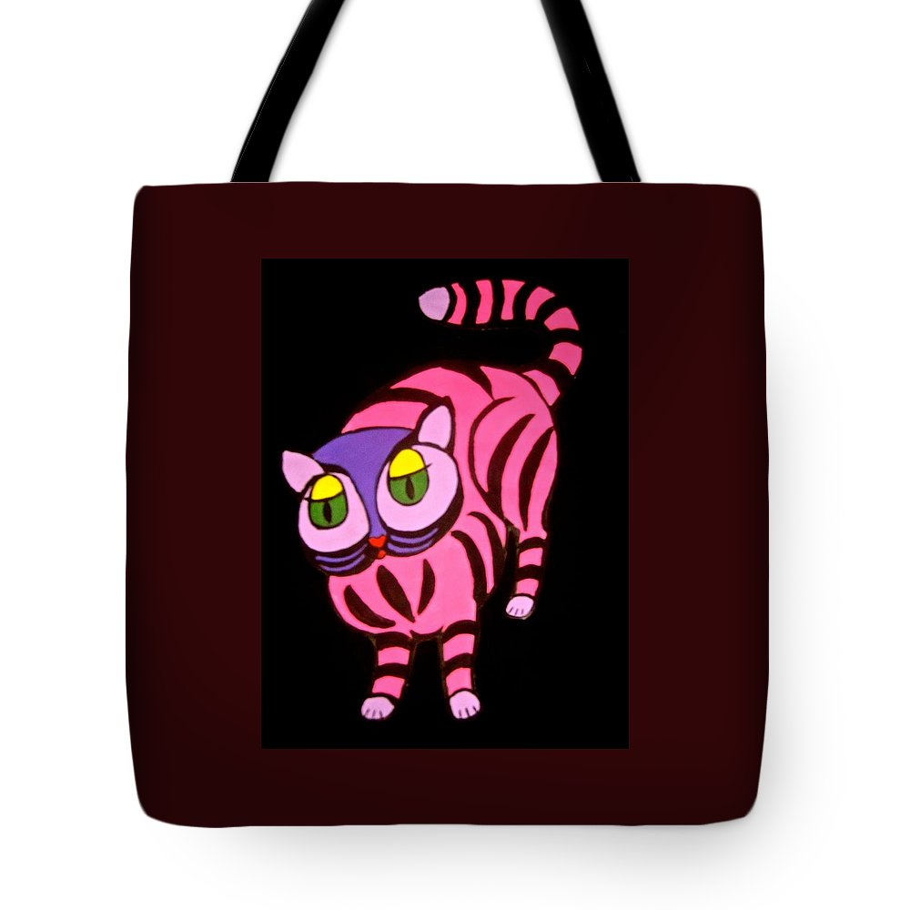 Cat Tote Bag featuring the painting Cat #4 by Stephanie Moore