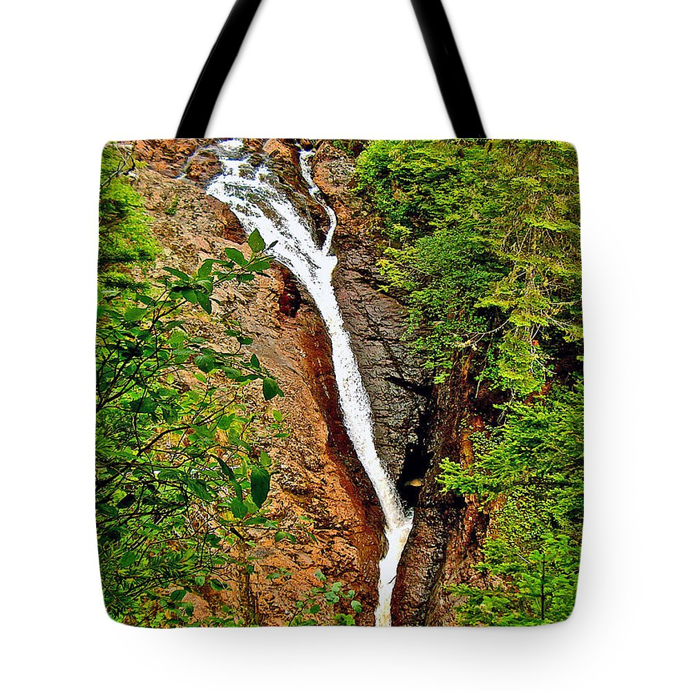 Cataract On North Harbour Tote Bag featuring the photograph Cataract On North Harbour-nl by Ruth Hager