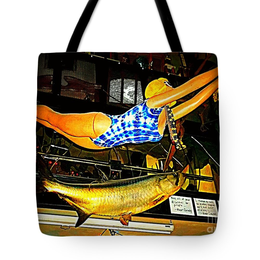 Tote Bag featuring the photograph Catch Of The Day by Kelly Awad