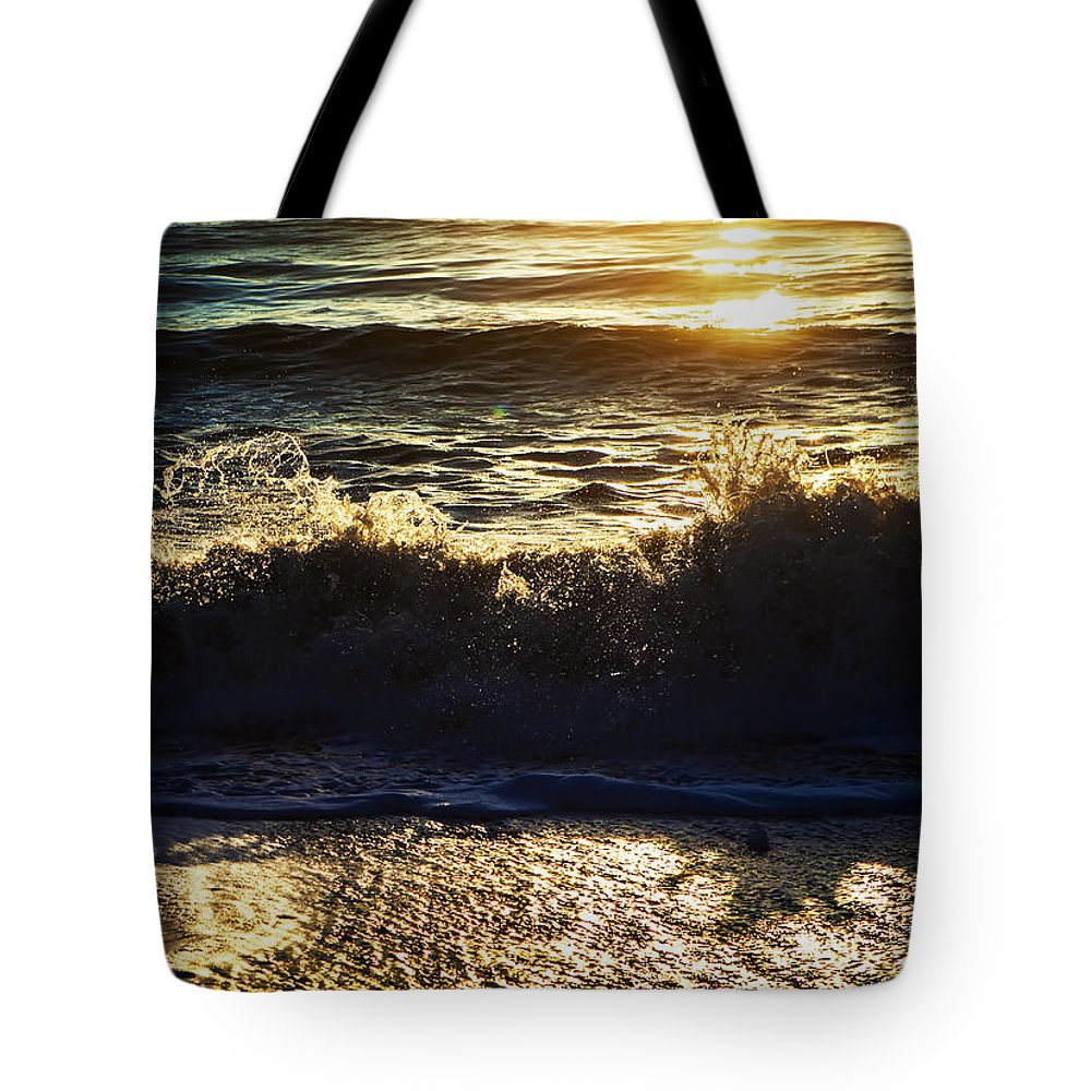 Alaska Tote Bag featuring the photograph Catching A Wave by Michele Cornelius