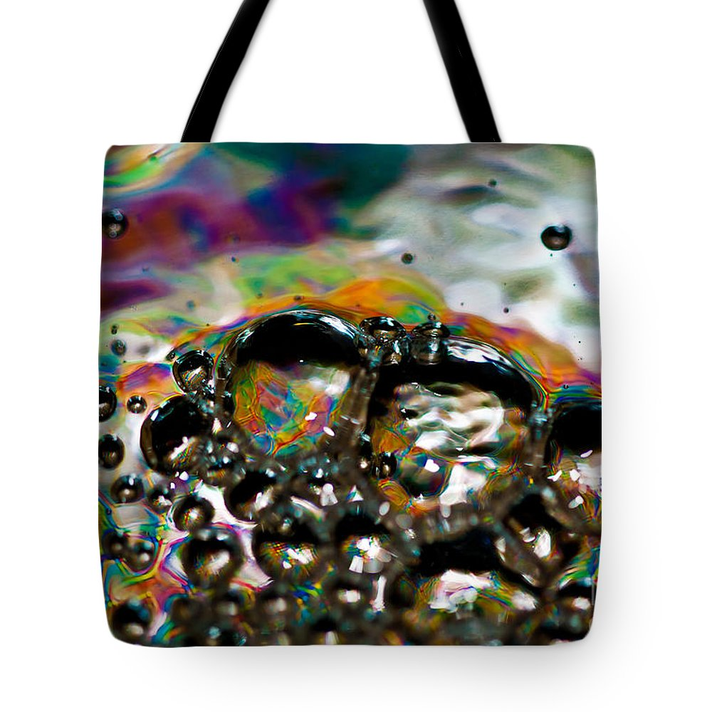 Abstract Tote Bag featuring the photograph Caterpillar by Anthony Sacco