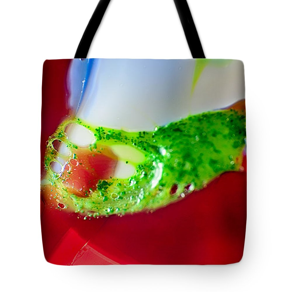 Glass Tote Bag featuring the photograph Caterpillar by Omaste Witkowski