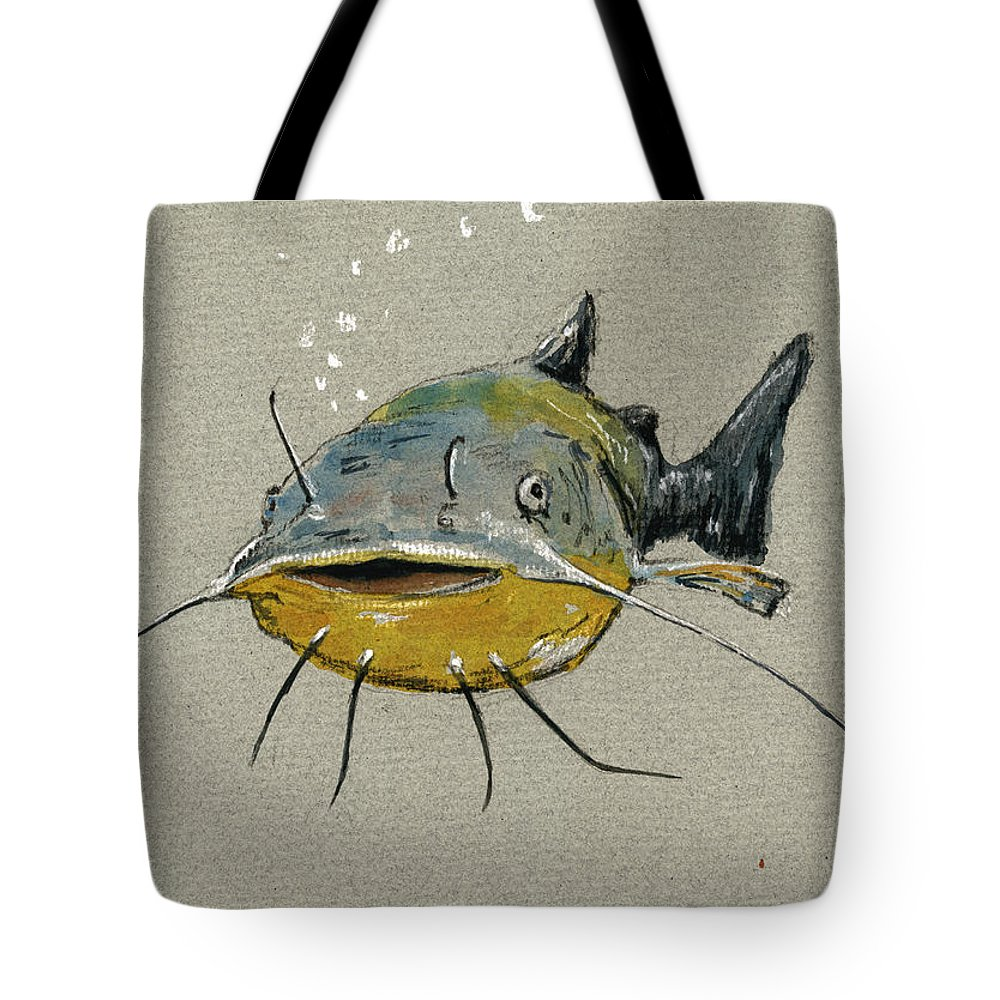 Catfish Tote Bags