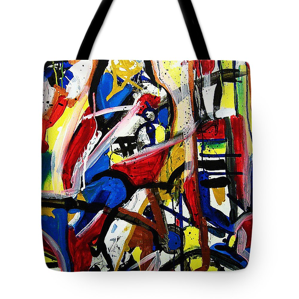 Painting Tote Bag featuring the painting Catharsis by Jeff Barrett