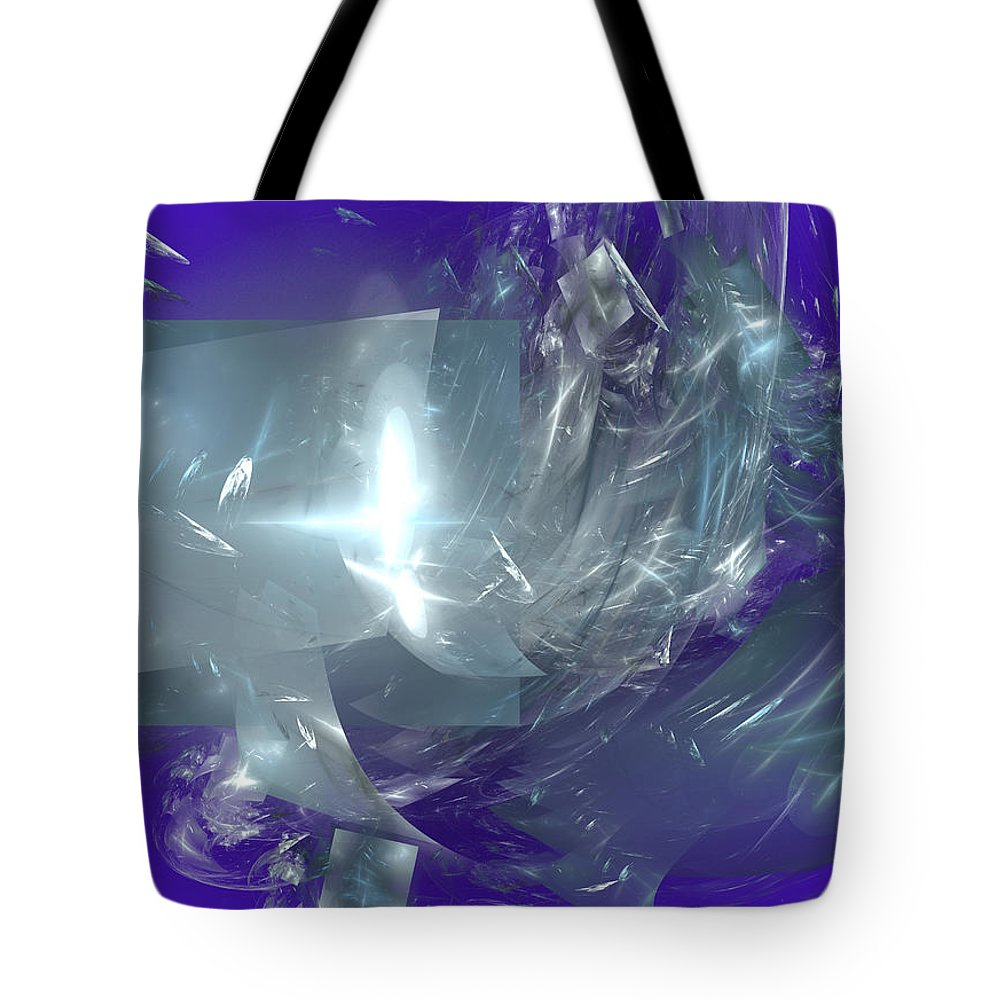 Abstract Tote Bag featuring the digital art Catharsis by Robert Mawby