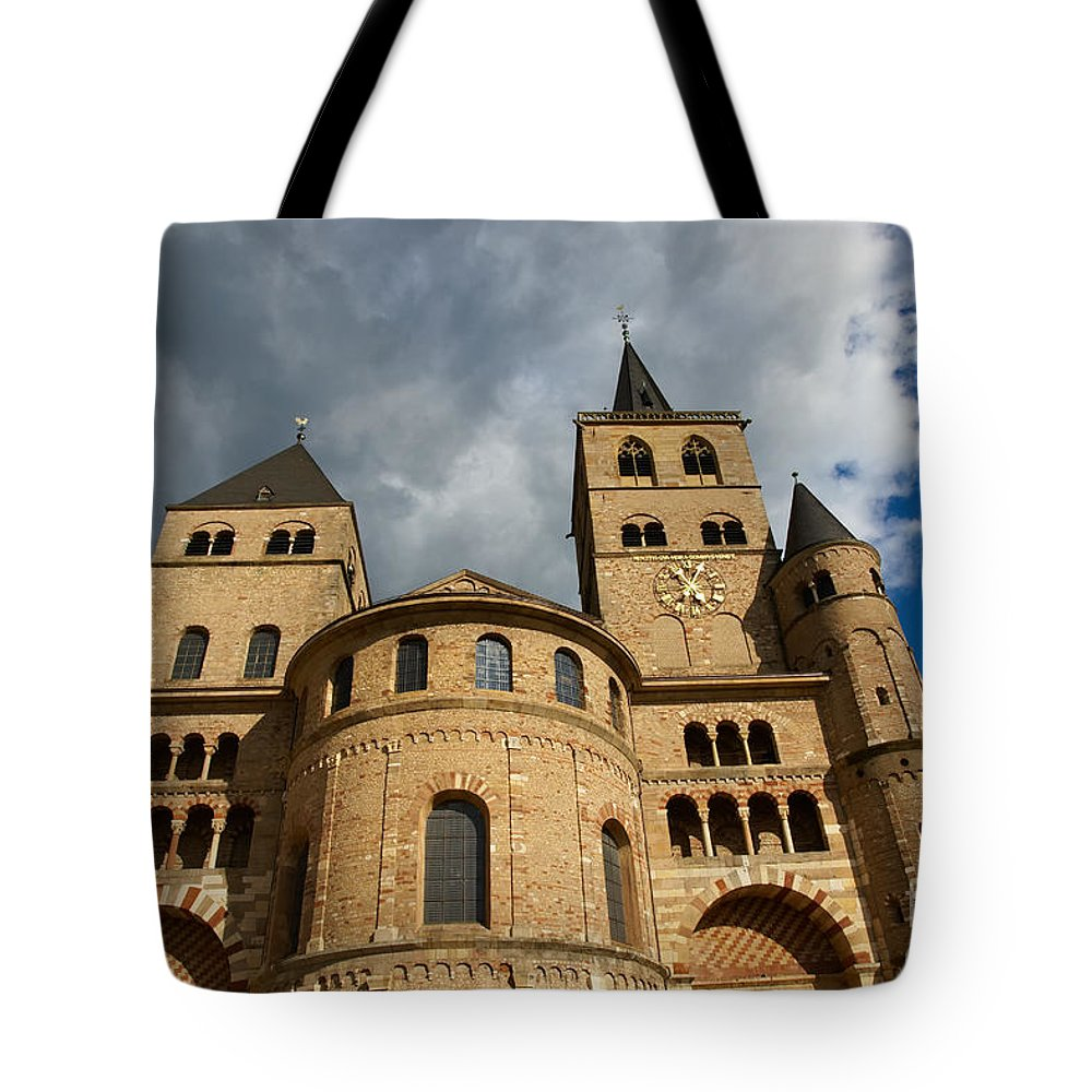 Cathedral Tote Bag featuring the photograph Cathedral And Church Of Our Lady by Nick Biemans