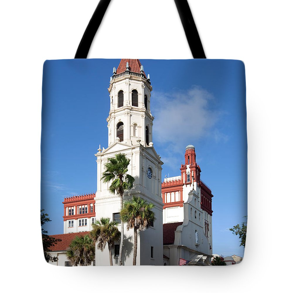 Basilica Tote Bag featuring the photograph Cathedral Basilica Of St. Augustine by Bill Cobb