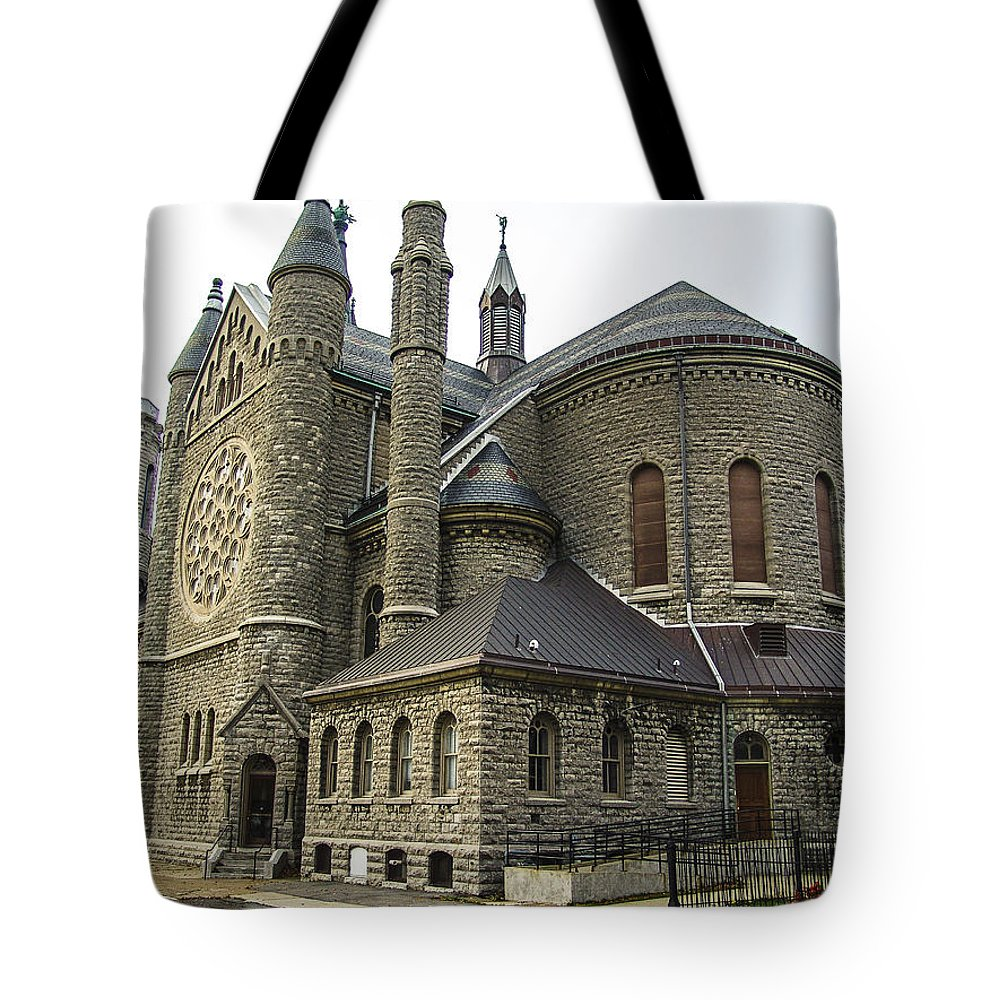 Religion Tote Bag featuring the photograph Cathedral In Buffalo by Eric Swan