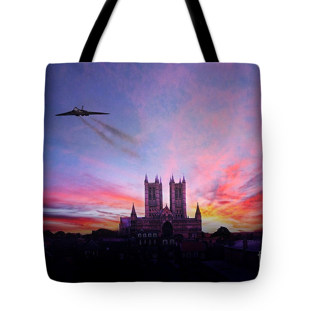 Vulcan Tote Bag featuring the digital art Cathedral Pass by J Biggadike