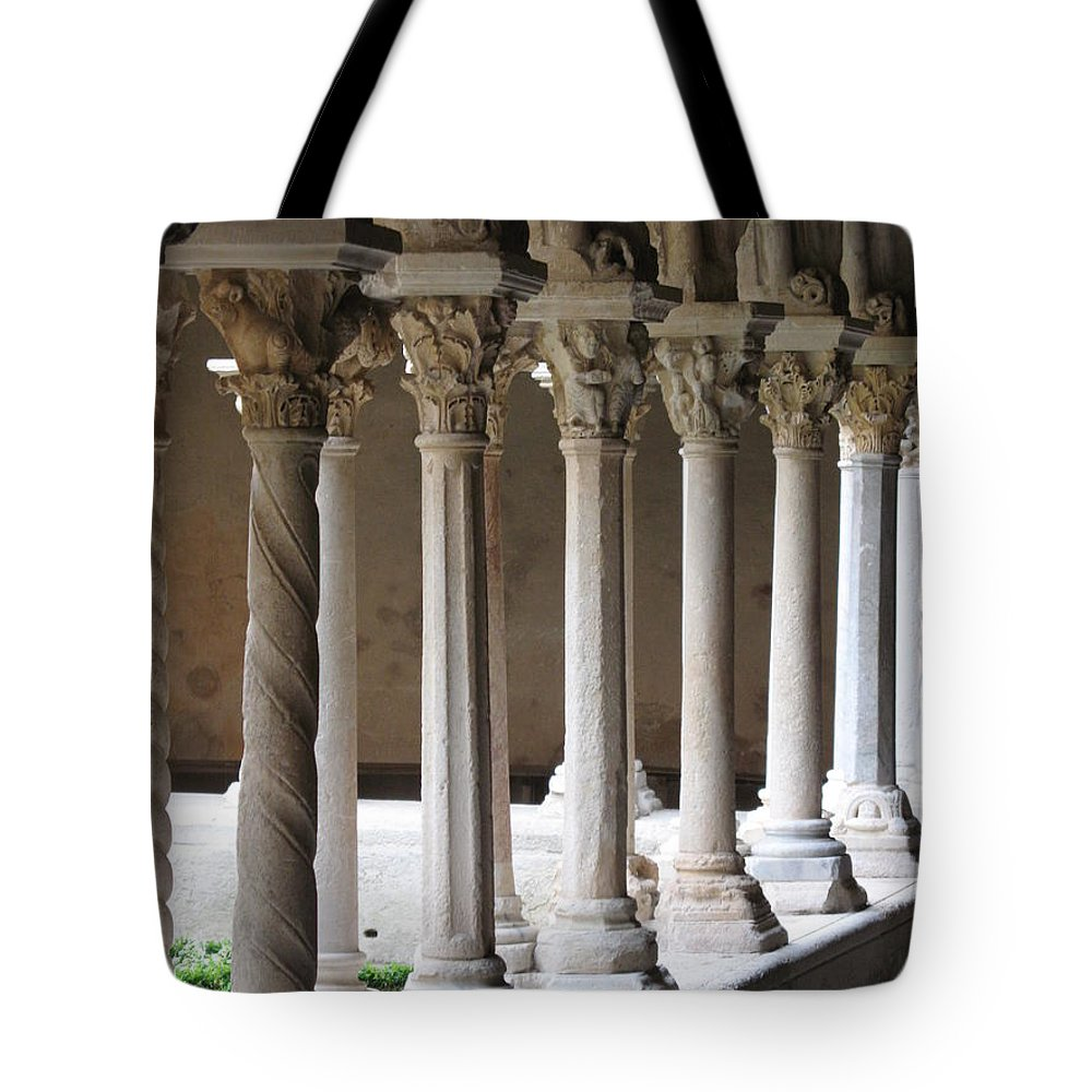 Croos Tote Bag featuring the photograph Cathedral St Sauveur - Croos-coat by Christiane Schulze Art And Photography
