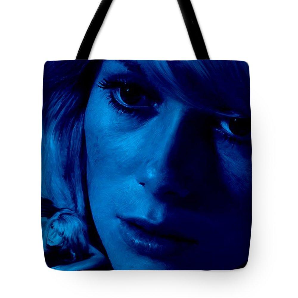 Catherine Deneuve Tote Bag featuring the digital art Catherine Deneuve in the film Repulsion by Gabriel T Toro