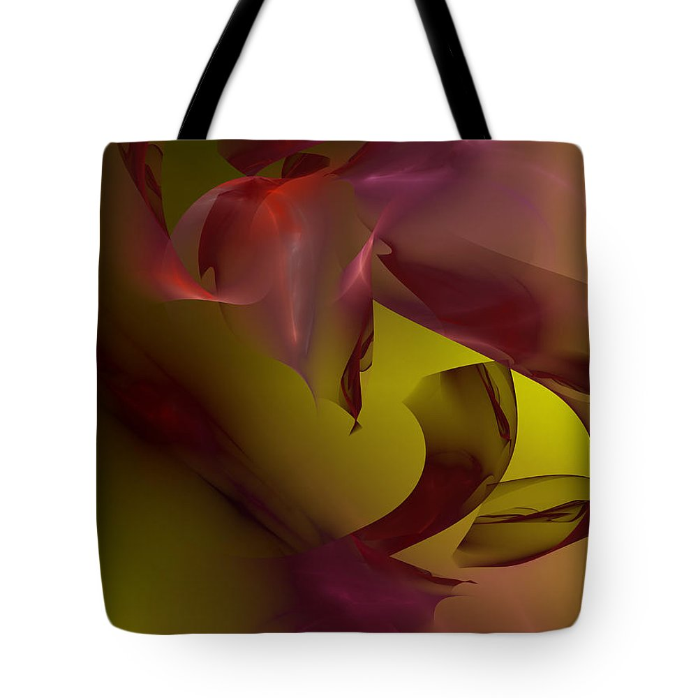Abstract Tote Bag featuring the digital art Cause An Effect by Jeff Iverson