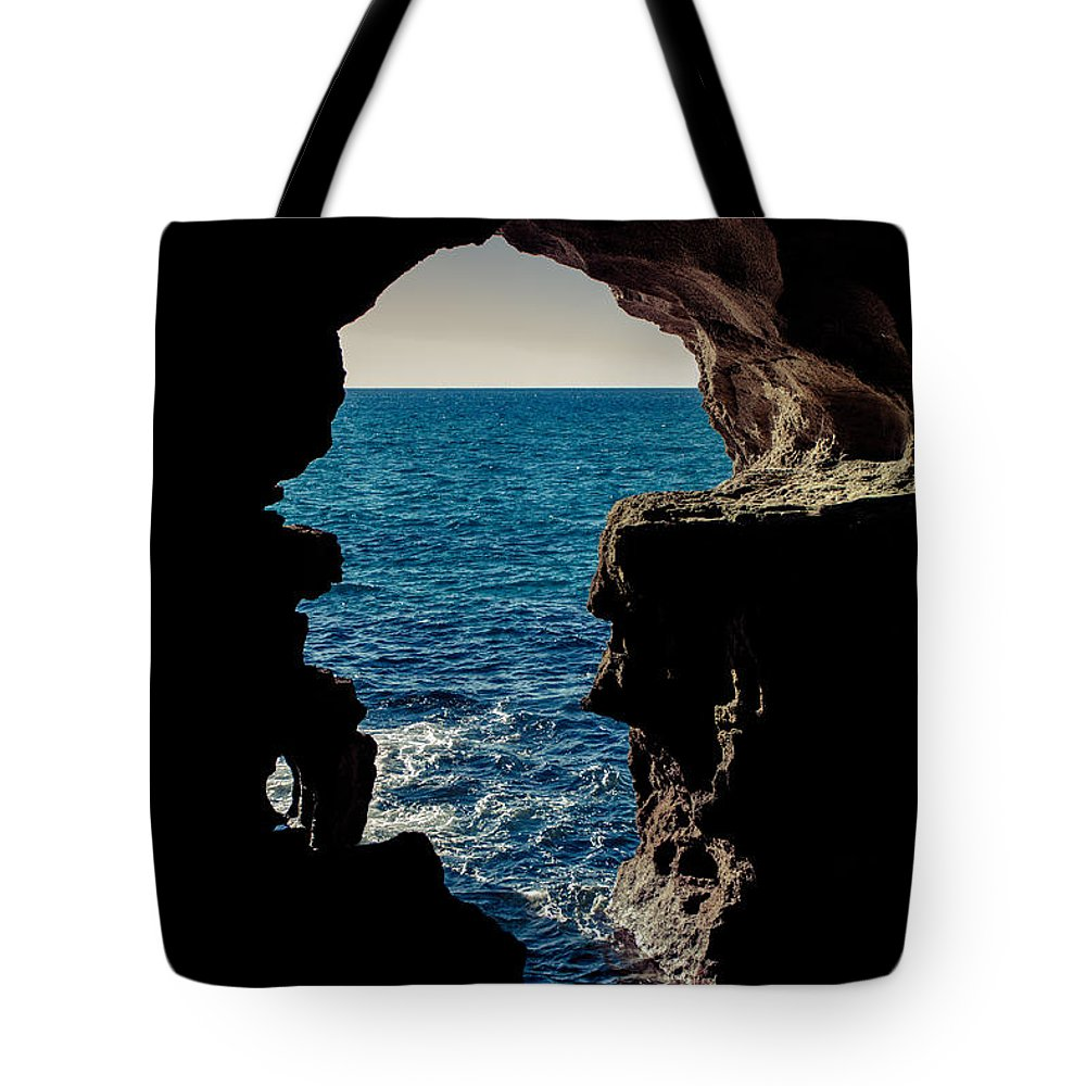 Cave Tote Bag featuring the photograph Cave Hole by Desislava Panteva