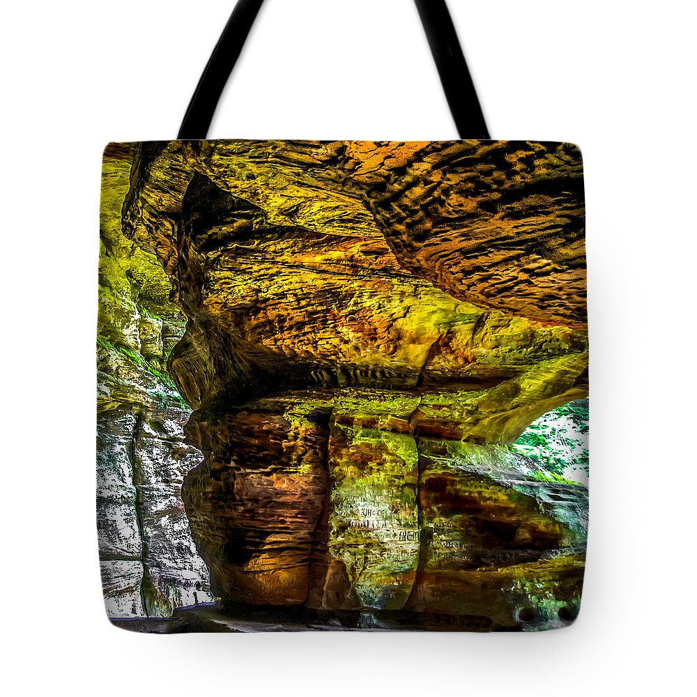 Opticalplaygroundbympray Tote Bag featuring the photograph Cave Land by Optical Playground By MP Ray
