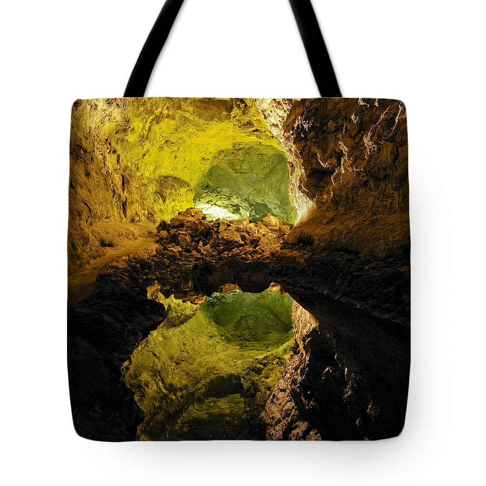 Cave Tote Bag featuring the photograph Cave On Lanzarote by Karol Kozlowski