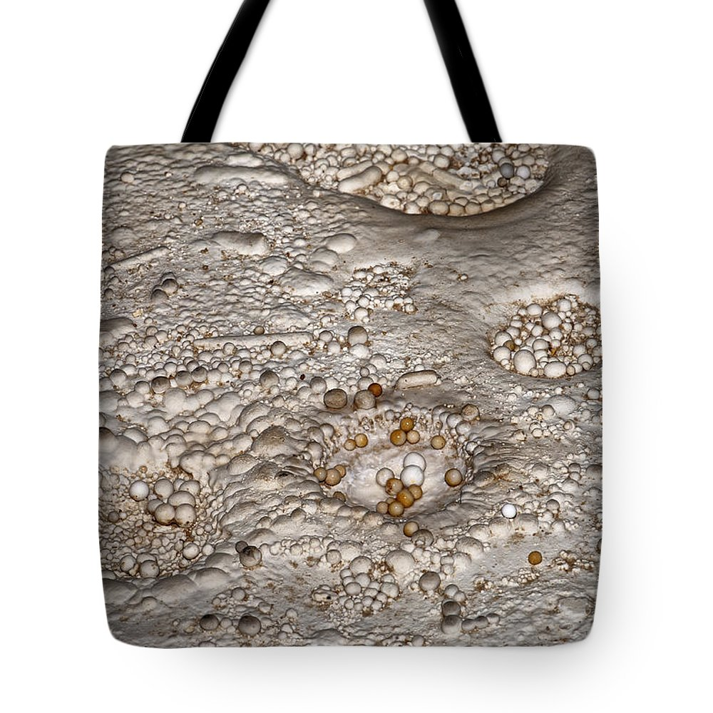 Awe Tote Bag featuring the photograph Cave Pearls by Melany Sarafis