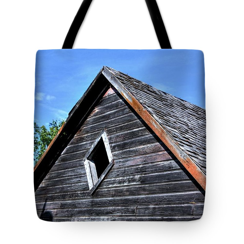 Red Barns Tote Bag featuring the photograph Cedar Shingles by David Matthews