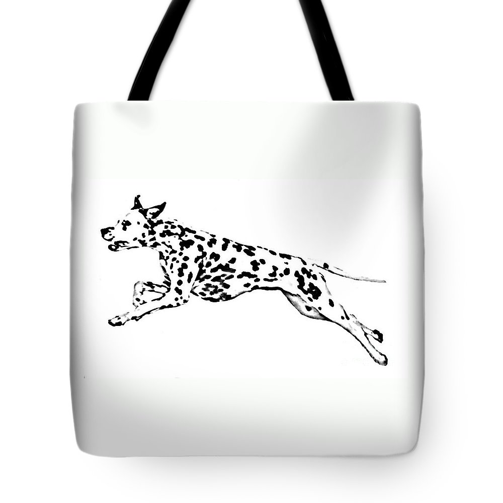 Dogs Tote Bag featuring the drawing Celebrate by Jacki McGovern