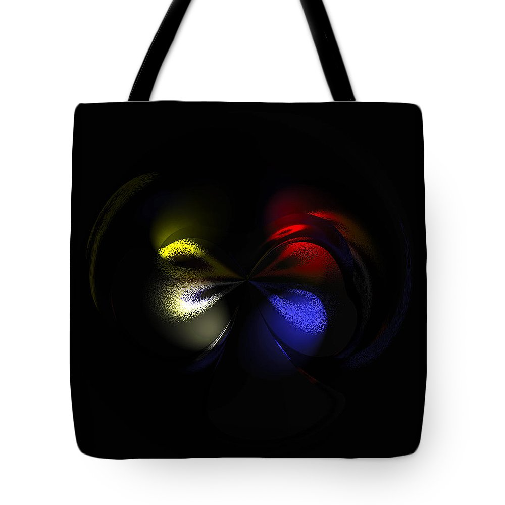 Modern Abstract Tote Bag featuring the painting Celestial Dance Digital Art by Georgeta Blanaru