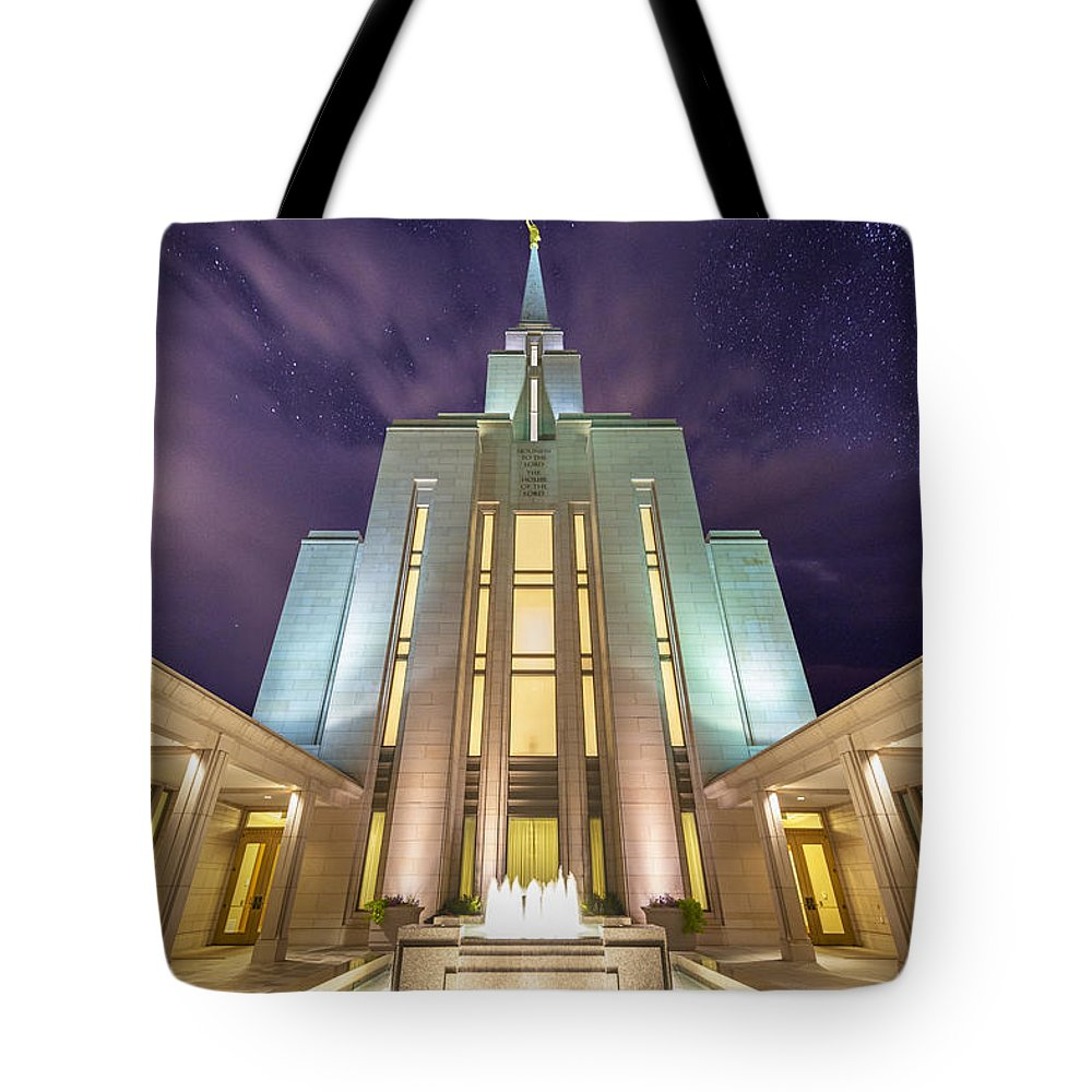 Temple Tote Bag featuring the photograph Celestial by Dustin LeFevre