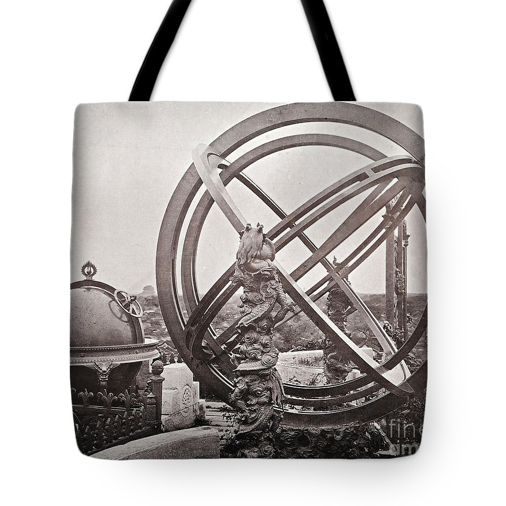 Historic Tote Bag featuring the photograph Celestial Globe And Sphere Beijing by Wellcome Images