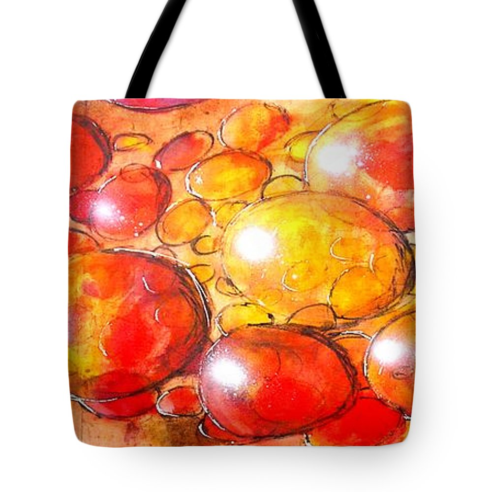 Abstract Tote Bag featuring the painting Cells by Marcello Cicchini