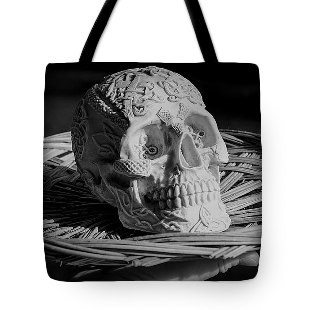 Celtic Tote Bag featuring the photograph Celtic Skulls Symbolic Pathway To The Other World by LeeAnn McLaneGoetz McLaneGoetzStudioLLCcom