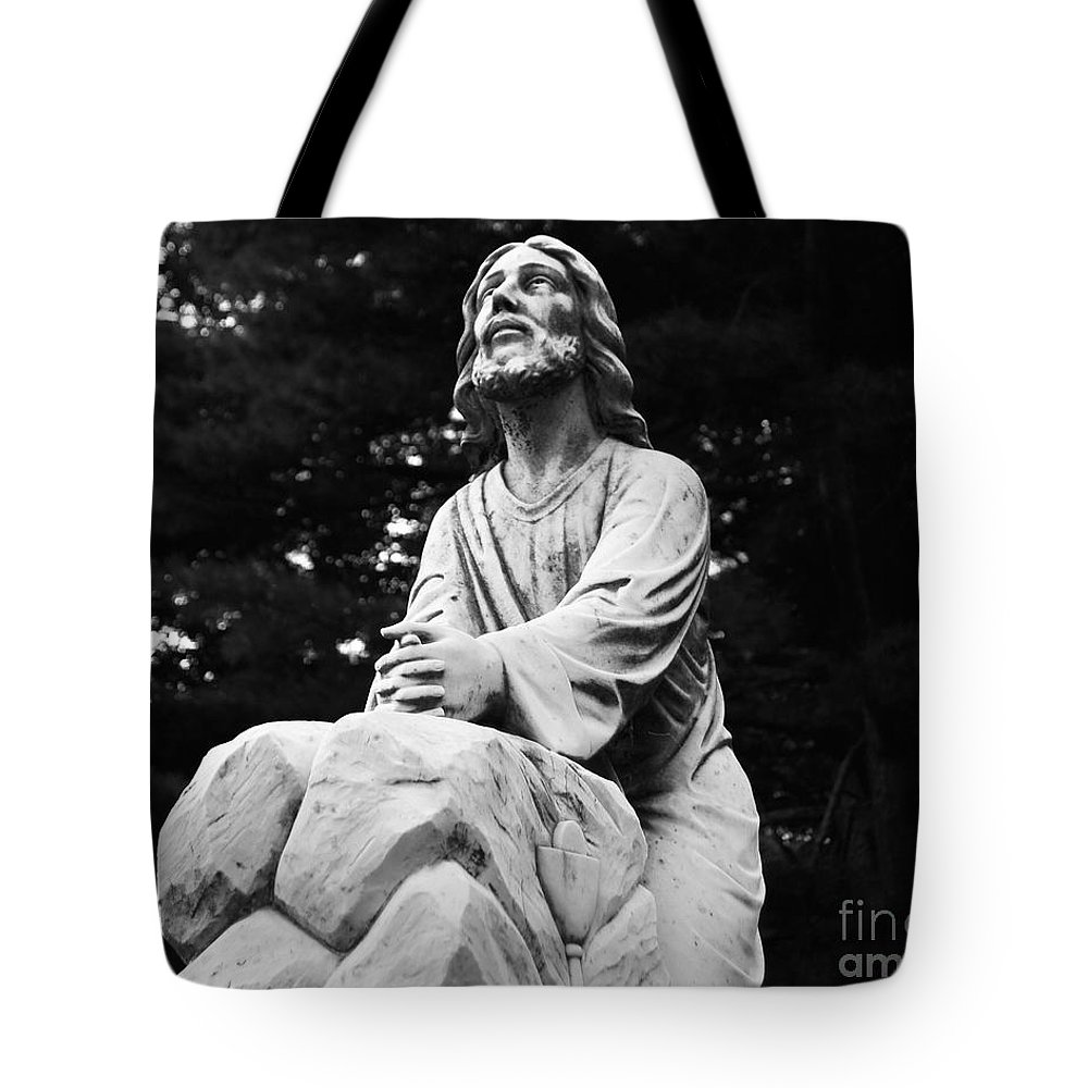 Statue Tote Bag featuring the photograph Cemetery Solitude by Joe Geraci