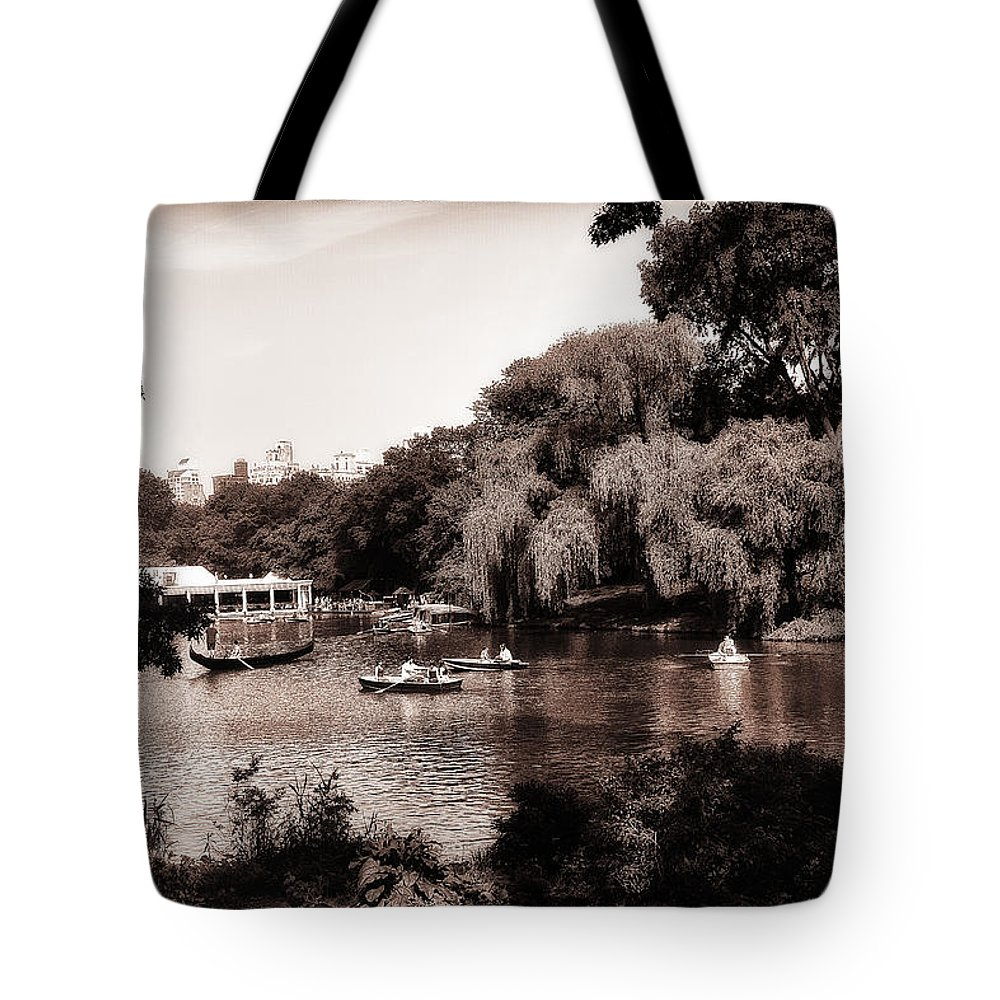 Rowing Tote Bag featuring the photograph Central Park Rowing - New York City by Madeline Ellis