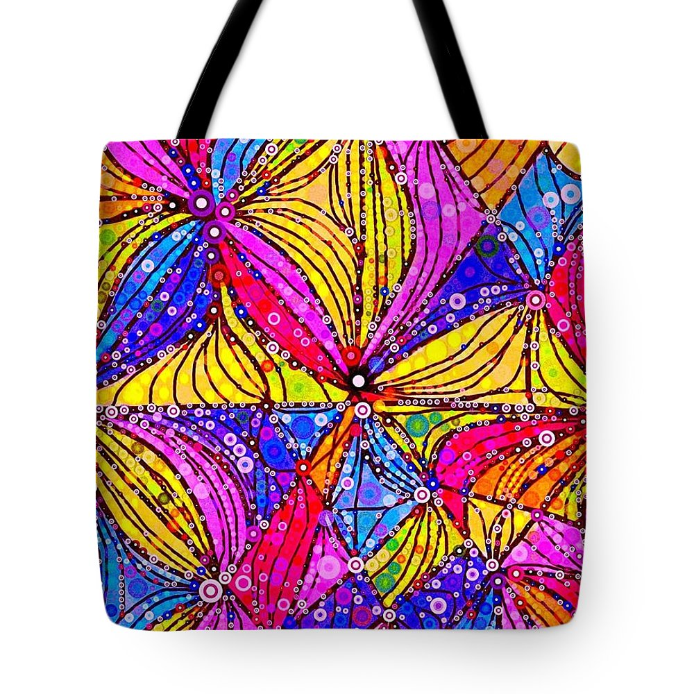 Reminds Me Of A Church Window Tote Bag featuring the digital art Certain Type by Steven Boland