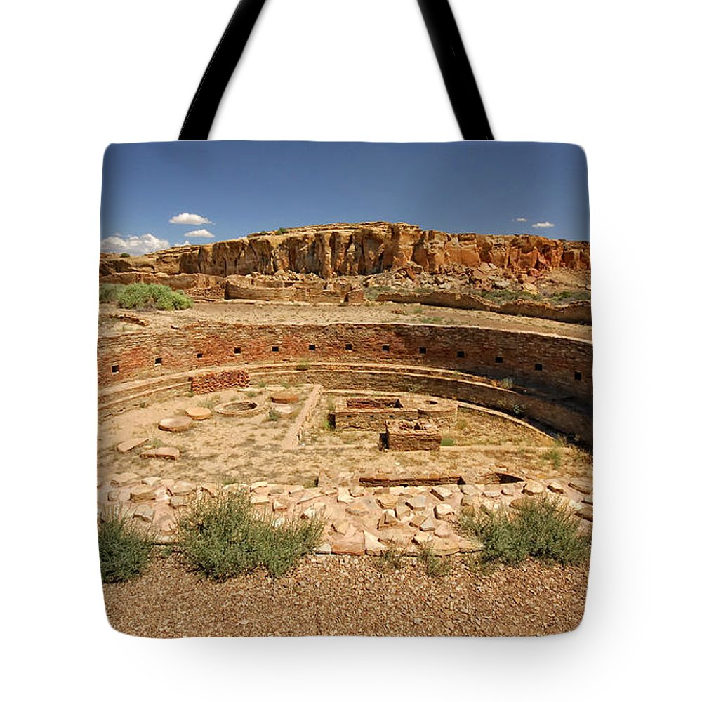 Sherry Day Tote Bag featuring the photograph Chaco Kiva by Ghostwinds Photography