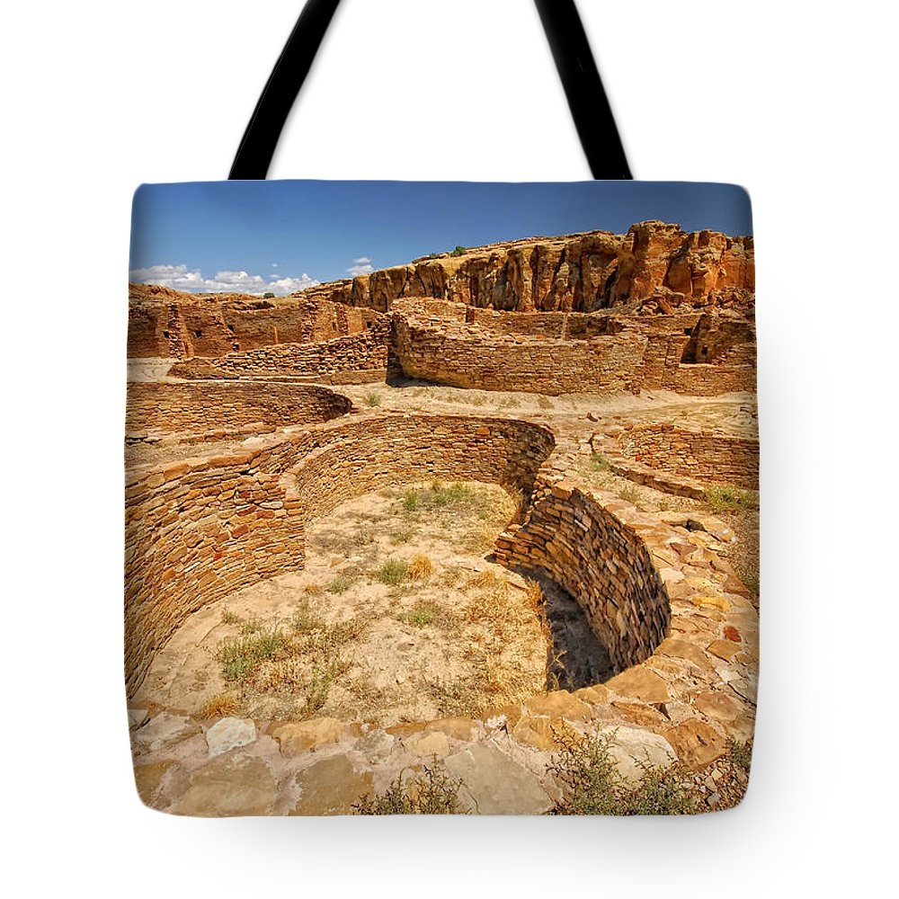 Sherry Day Tote Bag featuring the photograph Chaco Kiva II by Ghostwinds Photography