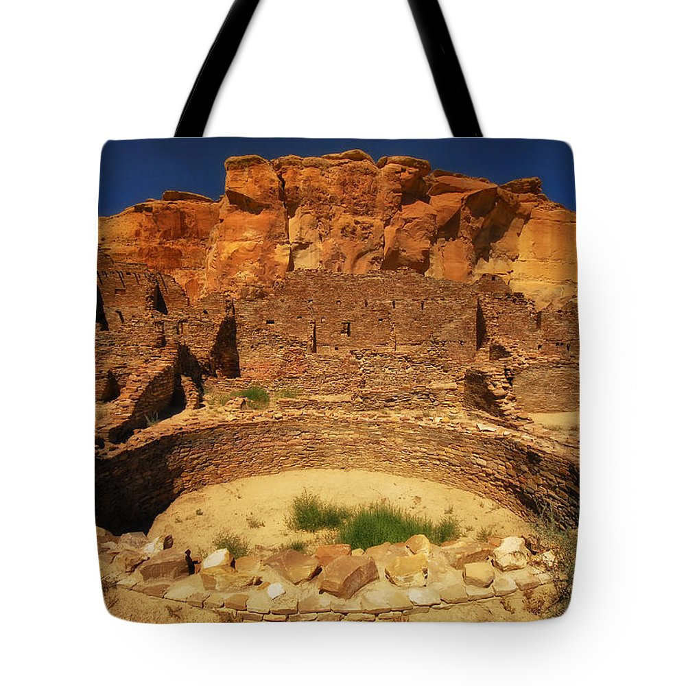 Sherry Day Tote Bag featuring the photograph Chaco Kiva Iv by Ghostwinds Photography