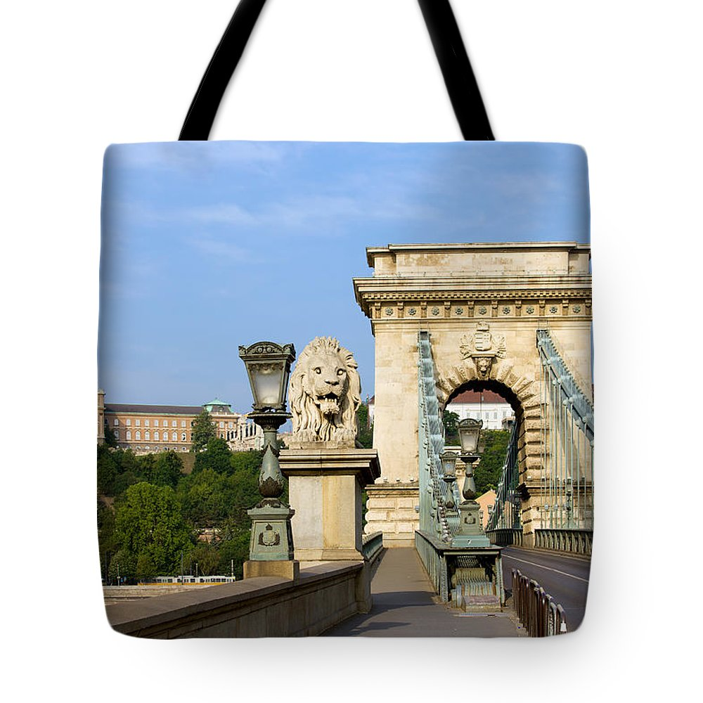 Chain Tote Bag featuring the photograph Chain Bridge In Budapest by Artur Bogacki