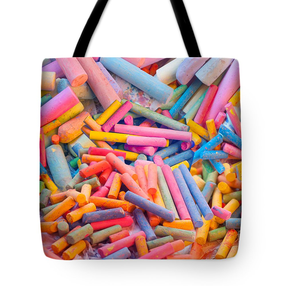 Chalk Tote Bag featuring the digital art Chalk Colors by MGL Meiklejohn Graphics Licensing